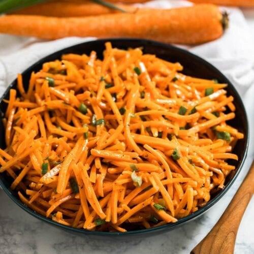 Social media image of carrot salad