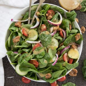 A bowl of Spinach Salad