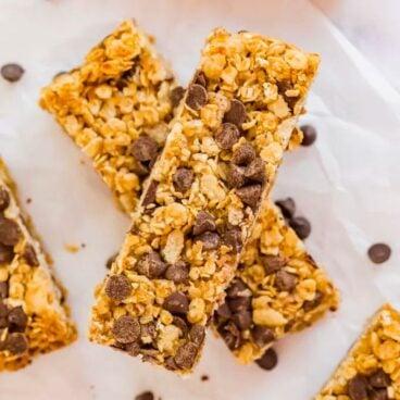 Social media image of granola bars