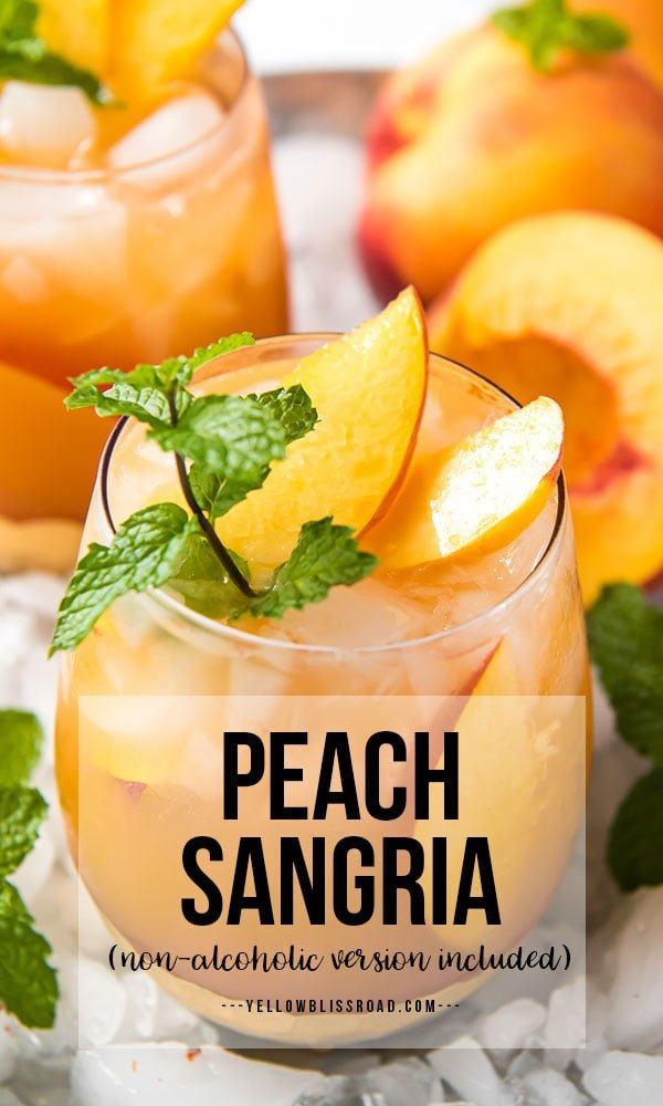 Peach Sangria long pinterest friendly image with text