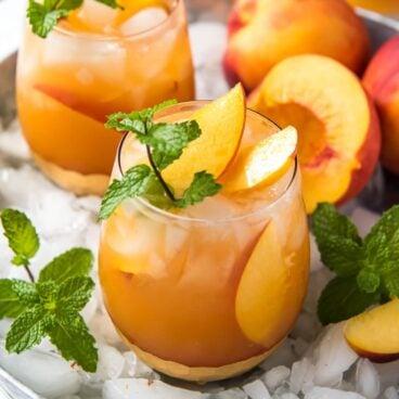 Social media image of Peach Sangria