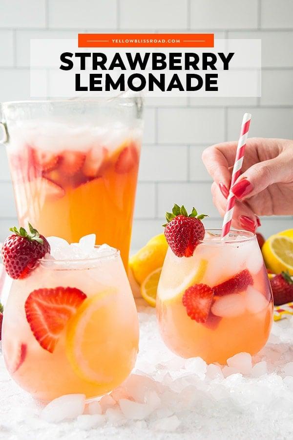 Strawberry Lemonade pinterest friendly image
