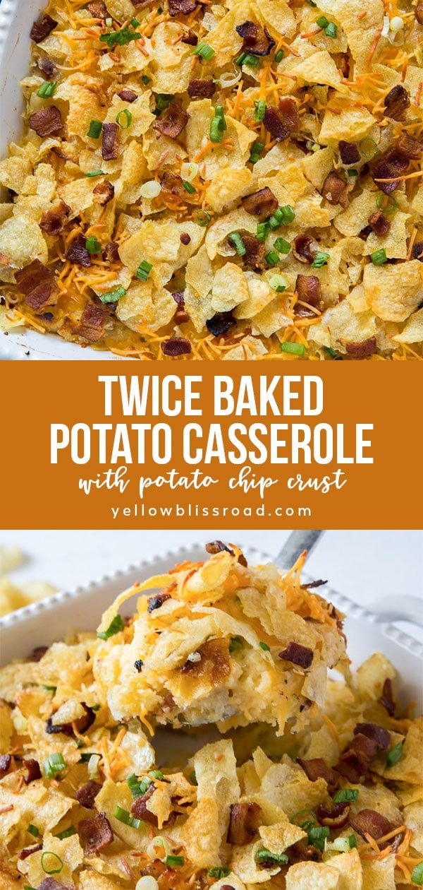 pinterest friendly potato casserole collage