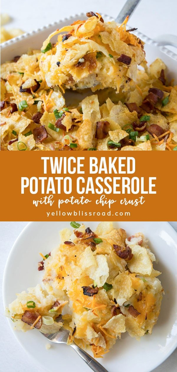 Twice Baked Potato Casserole collage images