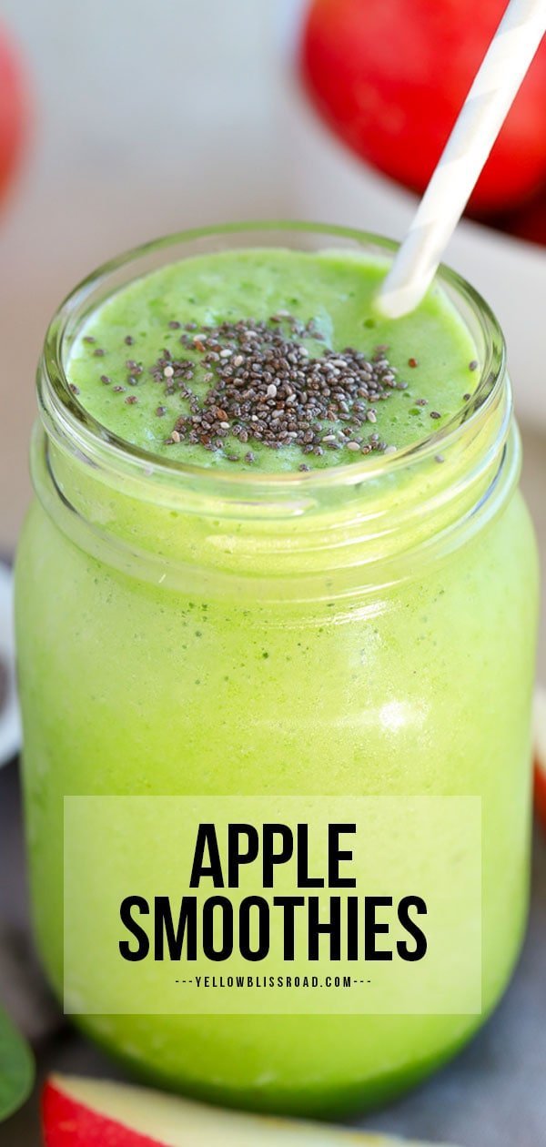 pinterest friendly apple smoothie long image