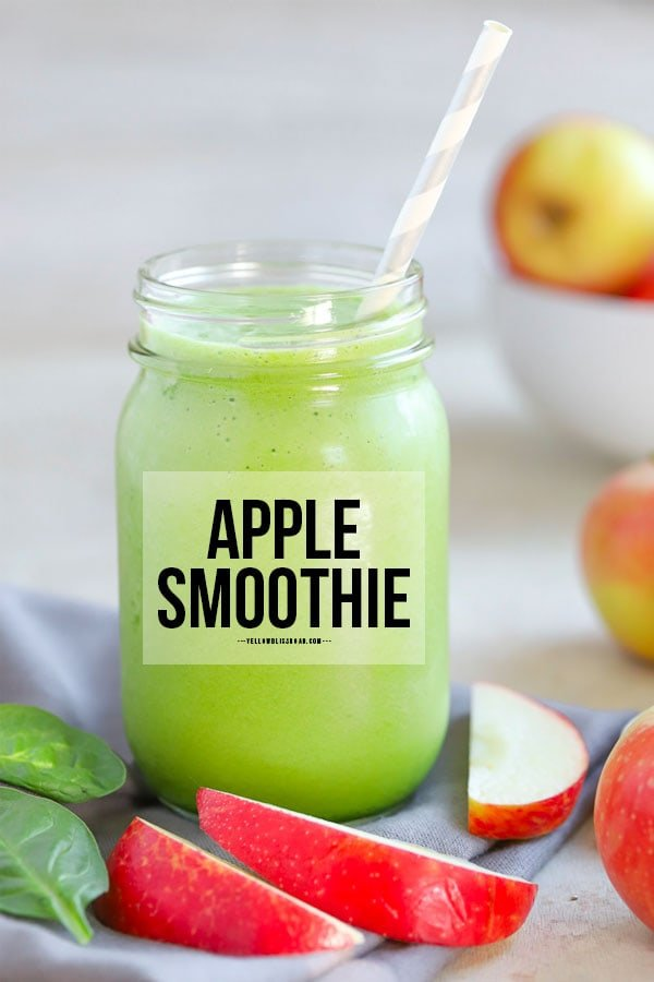 pinterest friendly image apple smoothie