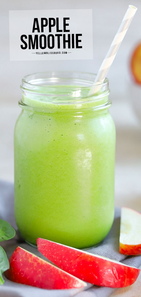 pinterest friendly image of apple smoothie