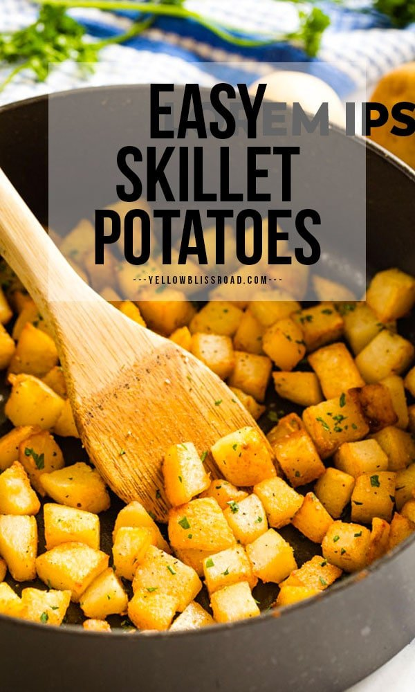 Skillet Potatoes pinterest friendly image