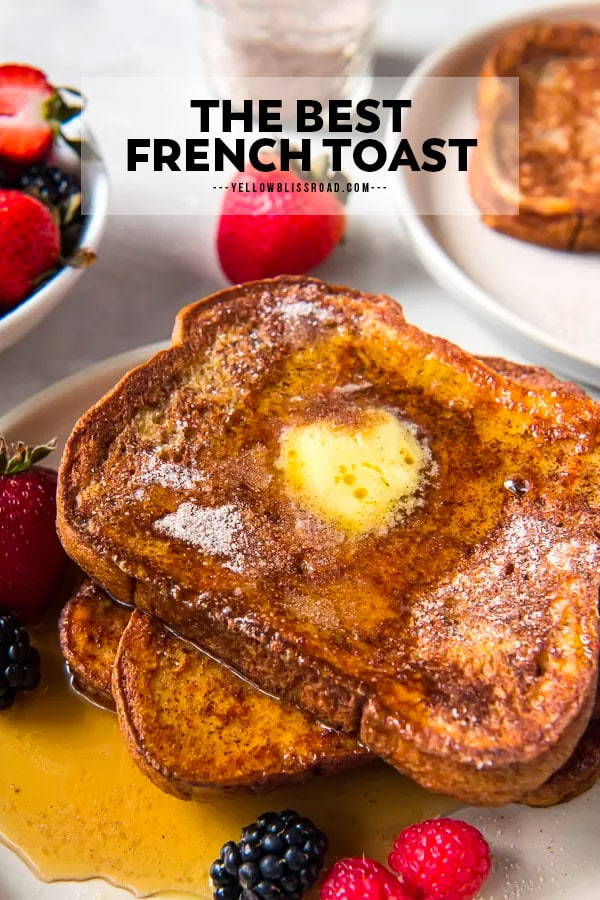 French toast - a pinterest friendly image with text overlay