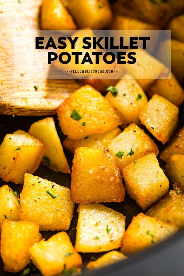 Skillet Potatoes pinterest friendly image