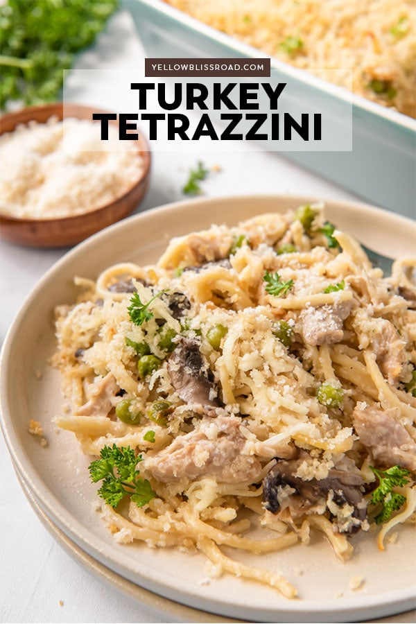 Turkey Tetrazzini Pinterest friendly image