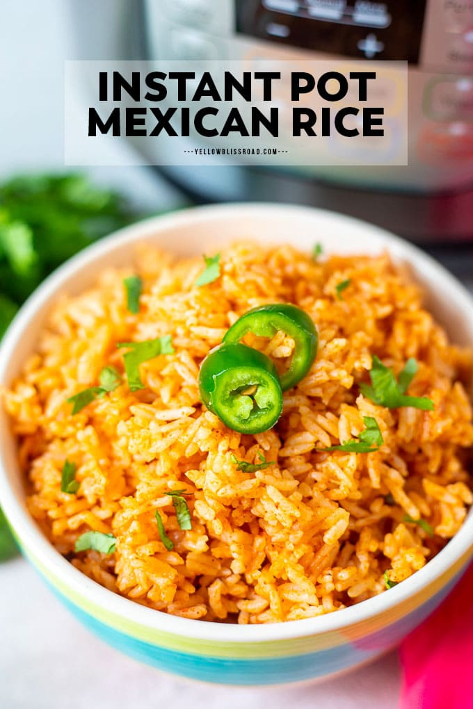 A bowl of Instant Pot Mexican Rice