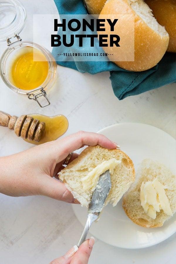 pinterest friendly image for honey butter