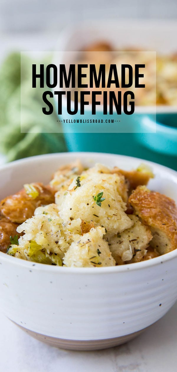 homemade stuffing pinterest friendly image