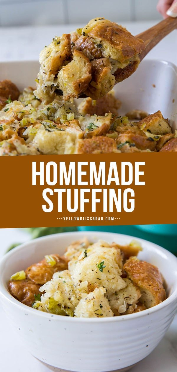 homemade stuffing pinterest friendly collage