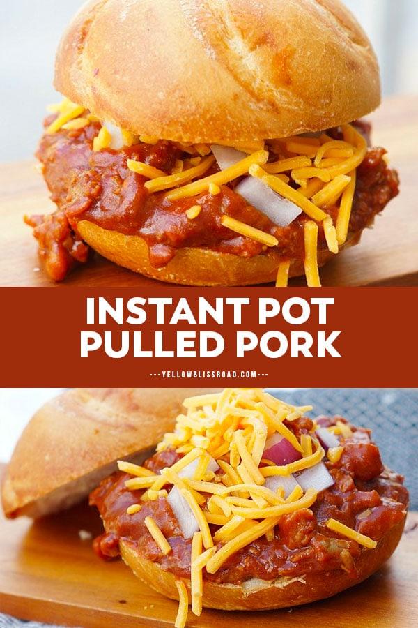 instant pot pork pinterest friendly collage