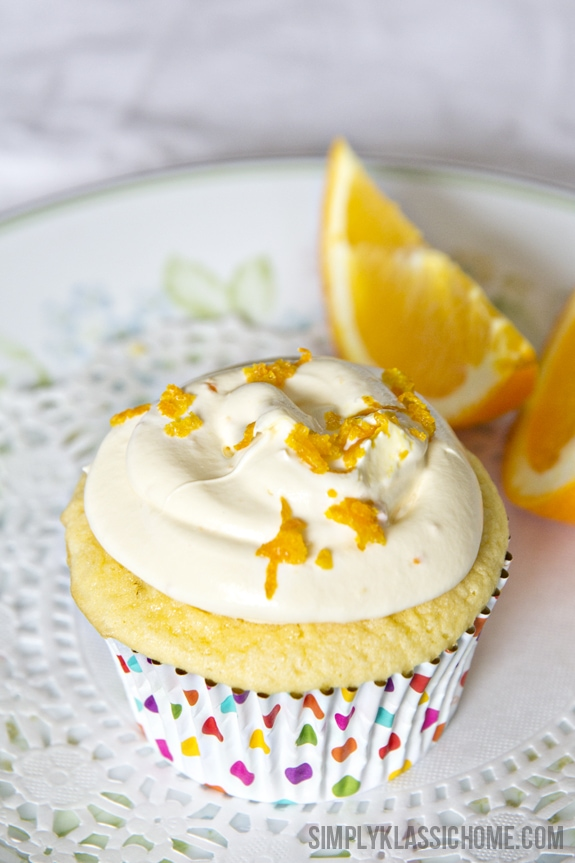 Semi-Homemade Orange Buttercream Cupcakes www.yellowblissroad.com