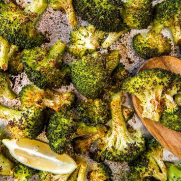 Roasted Broccoli on a pan
