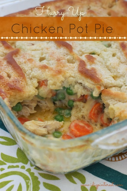 chicken pot pie image with text for pinterest.