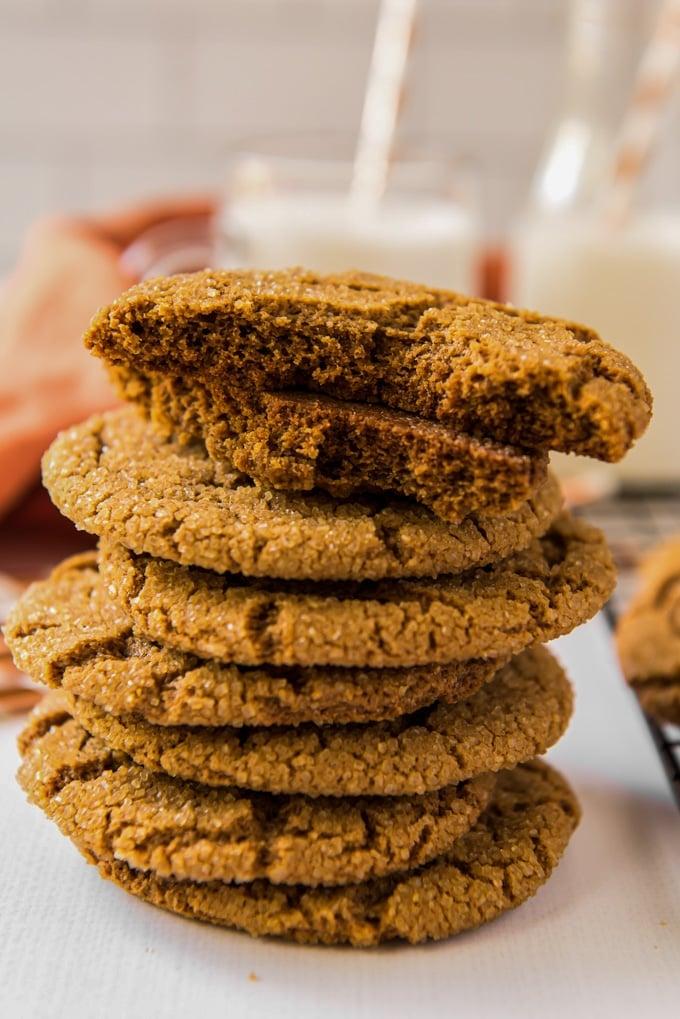 A close up of Molasses cookies