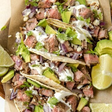 street tacos with toppings