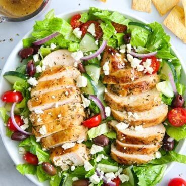 A plate of Chicken and Salad
