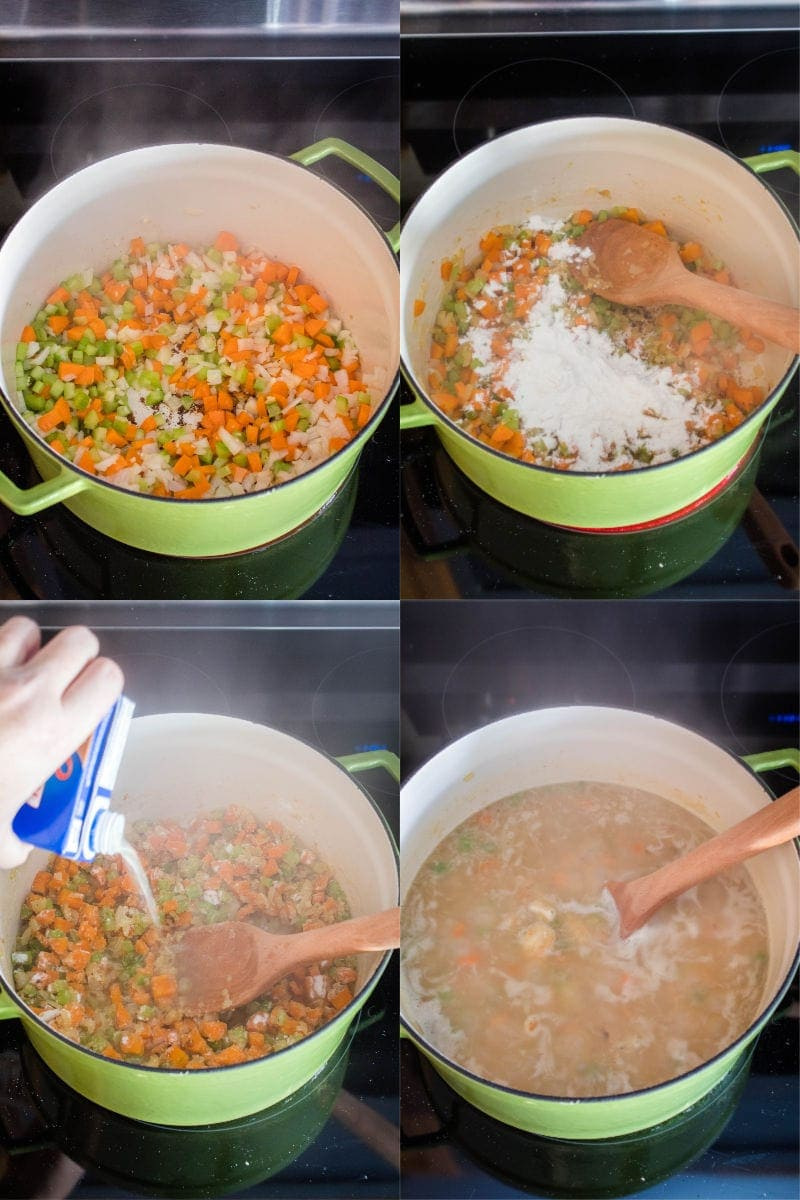 steps to make soup for chicken and dumplings