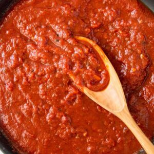 A close up of Tomato Sauce