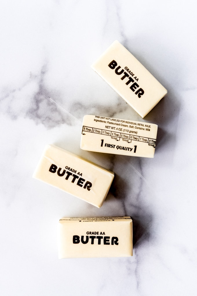 An image of four sticks of butter.
