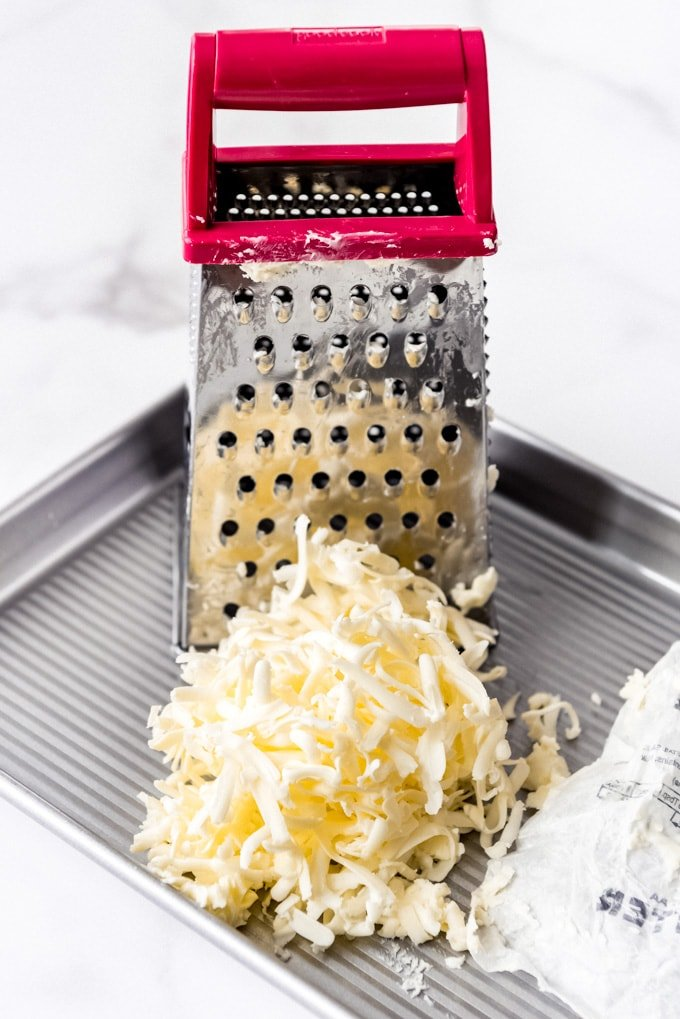 An image of a pile of grated butter.