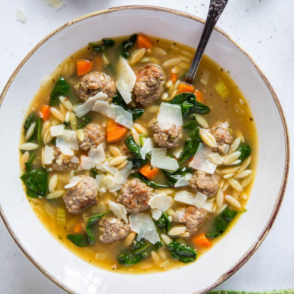 Easy Italian Wedding Soup Yellowblissroad Com