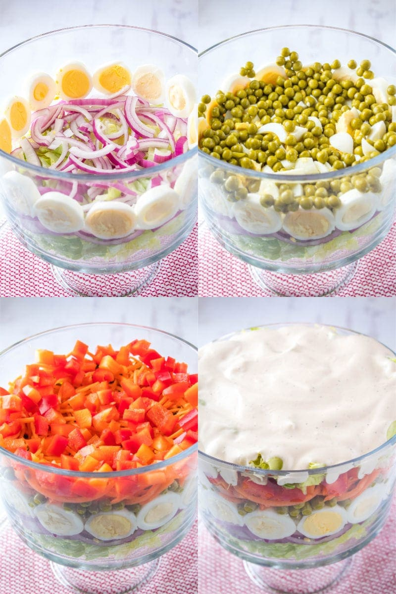 how to layer a 7 layer salad