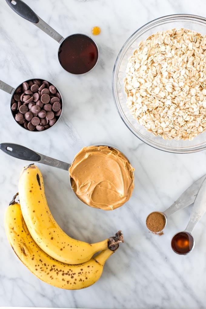 Ingredients for making breakfast cookies.