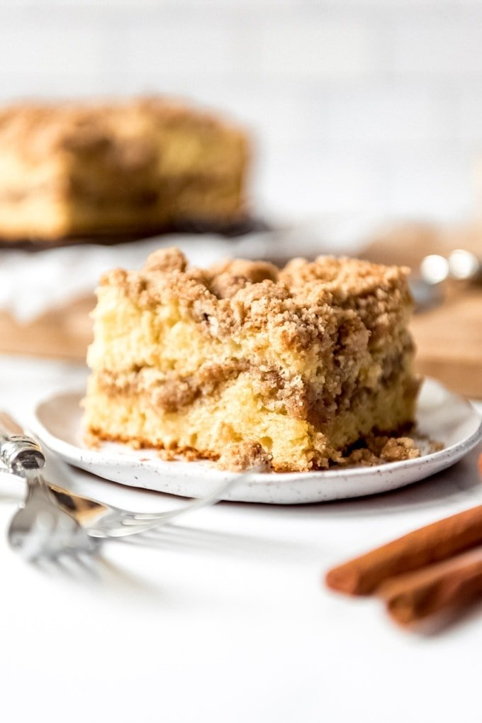Coffee Cake With Cinnamon Streusel Topping Yellowblissroad Com