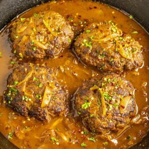 Salisbury Steak Ancho Gravy