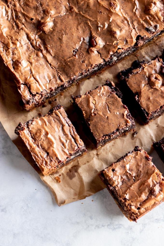slutty brownies sliced