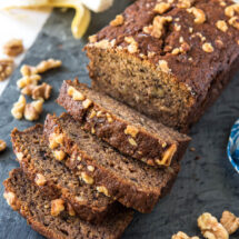 slices of the best banana nut bread