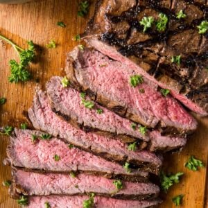 Close up of grilled London Broil Steak