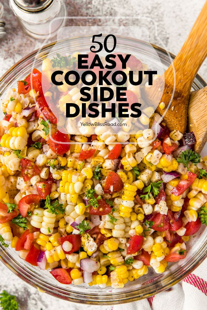 pinnable image for easy cookout side dishes