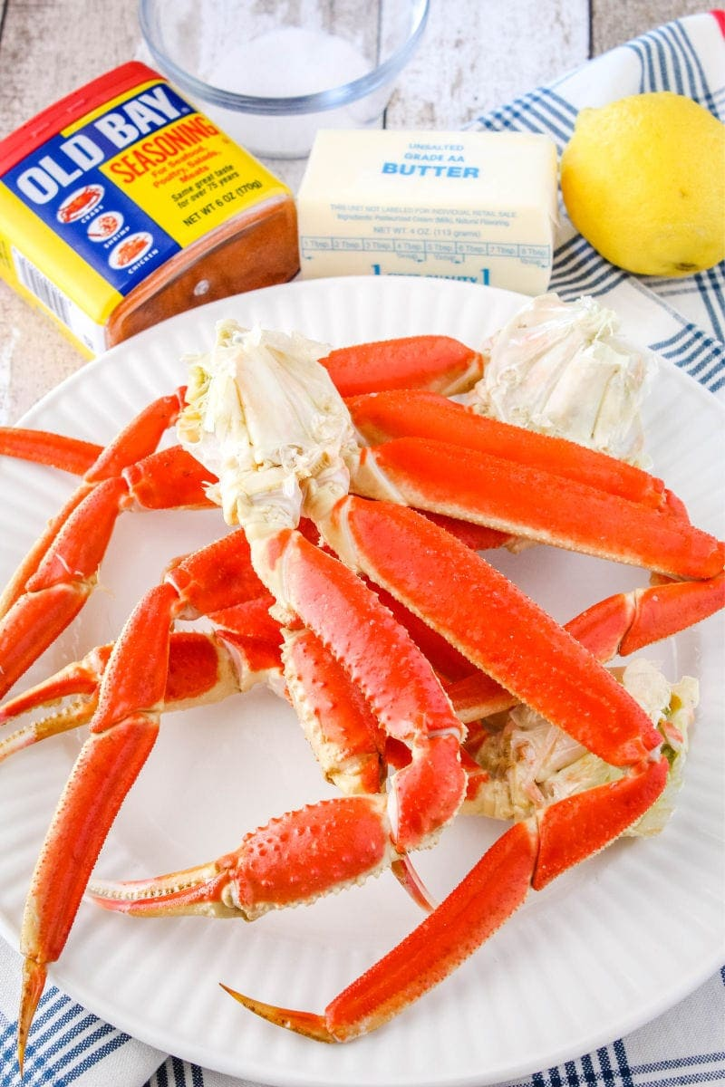 ingredients to make boiled snow crab legs
