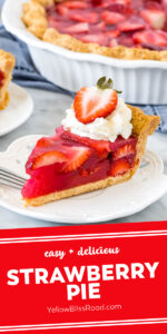 Easy Strawberry Pie Made With Jello Yellowblissroad Com