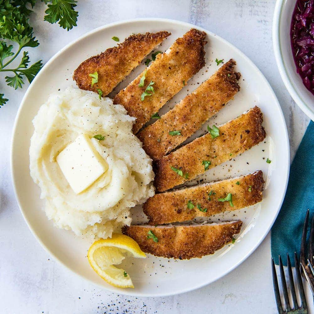 The Best Crispy Chicken Schnitzel Yellowblissroad Com