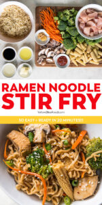 ramen noodle stir fry pinnable image with text