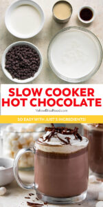 pinnable image for slow cooker hot chocolate