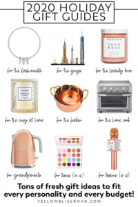 pinterest pin collage of image advertising gifts for the 2020 holiday gift guide