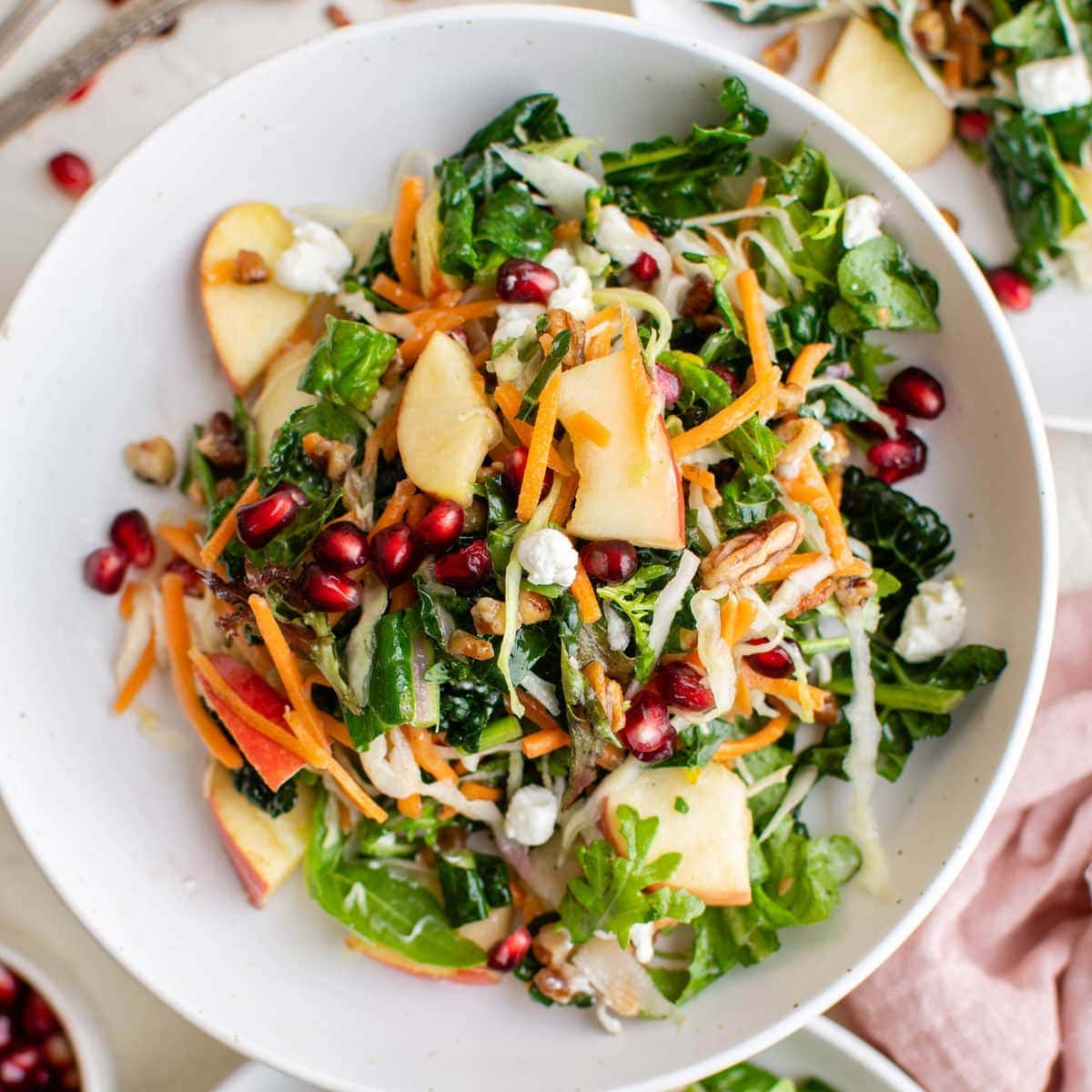 Winter Salad with Tangy Homemade Vinaigrette