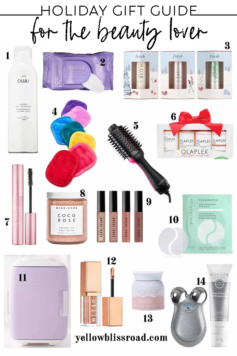collage of gift ideas for beauty lovers