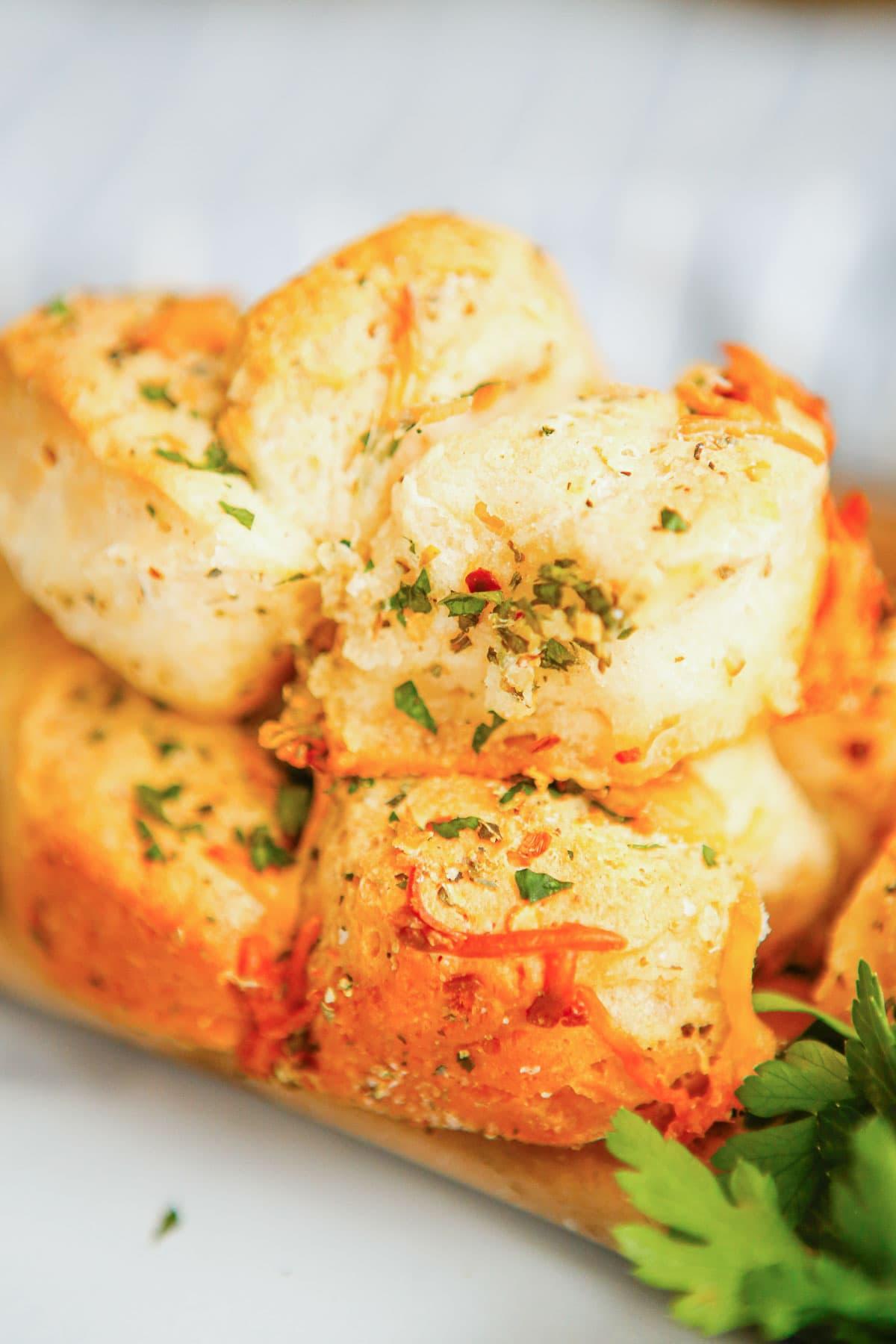 pull apart bread, parsley
