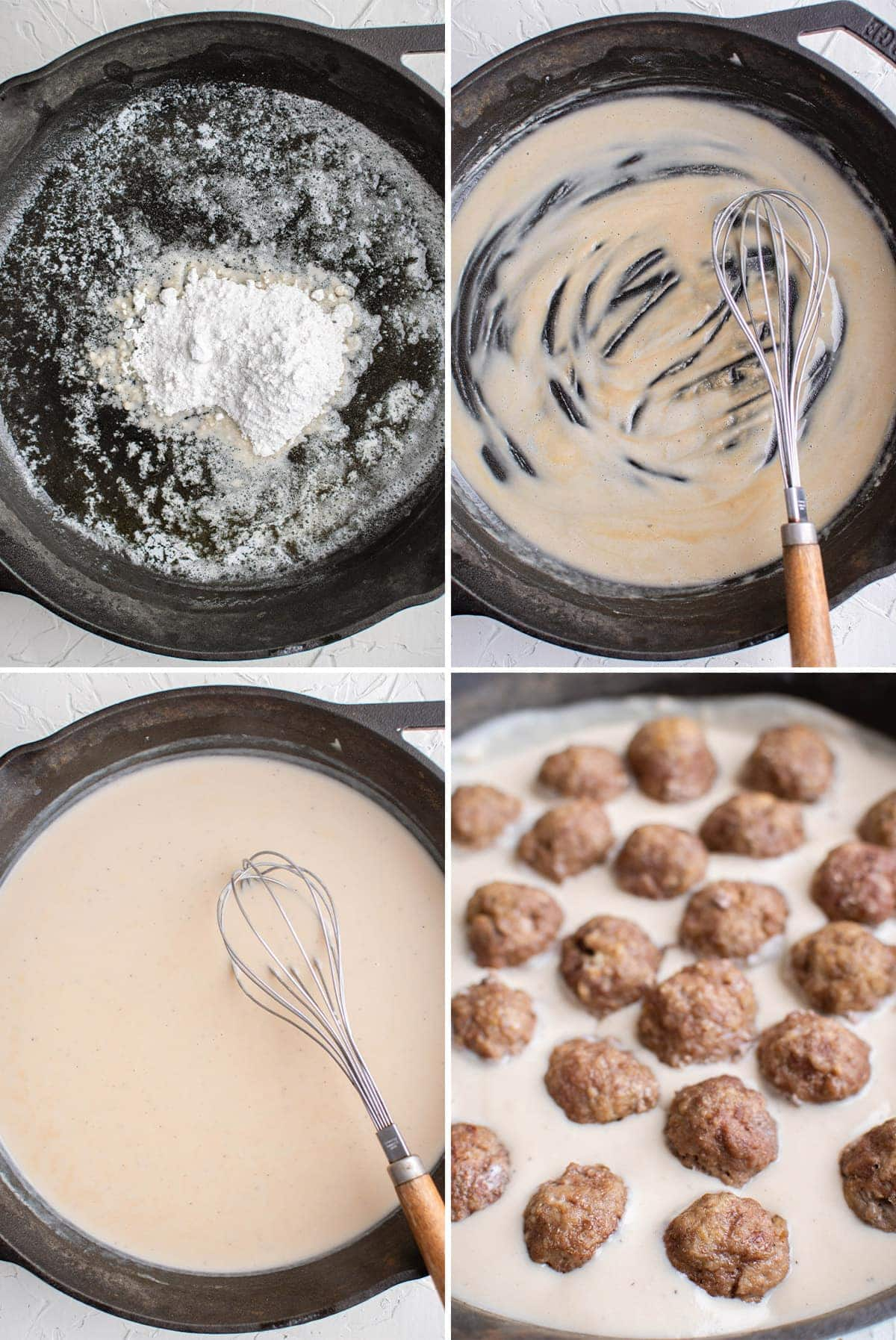 images showing the process of making gravy