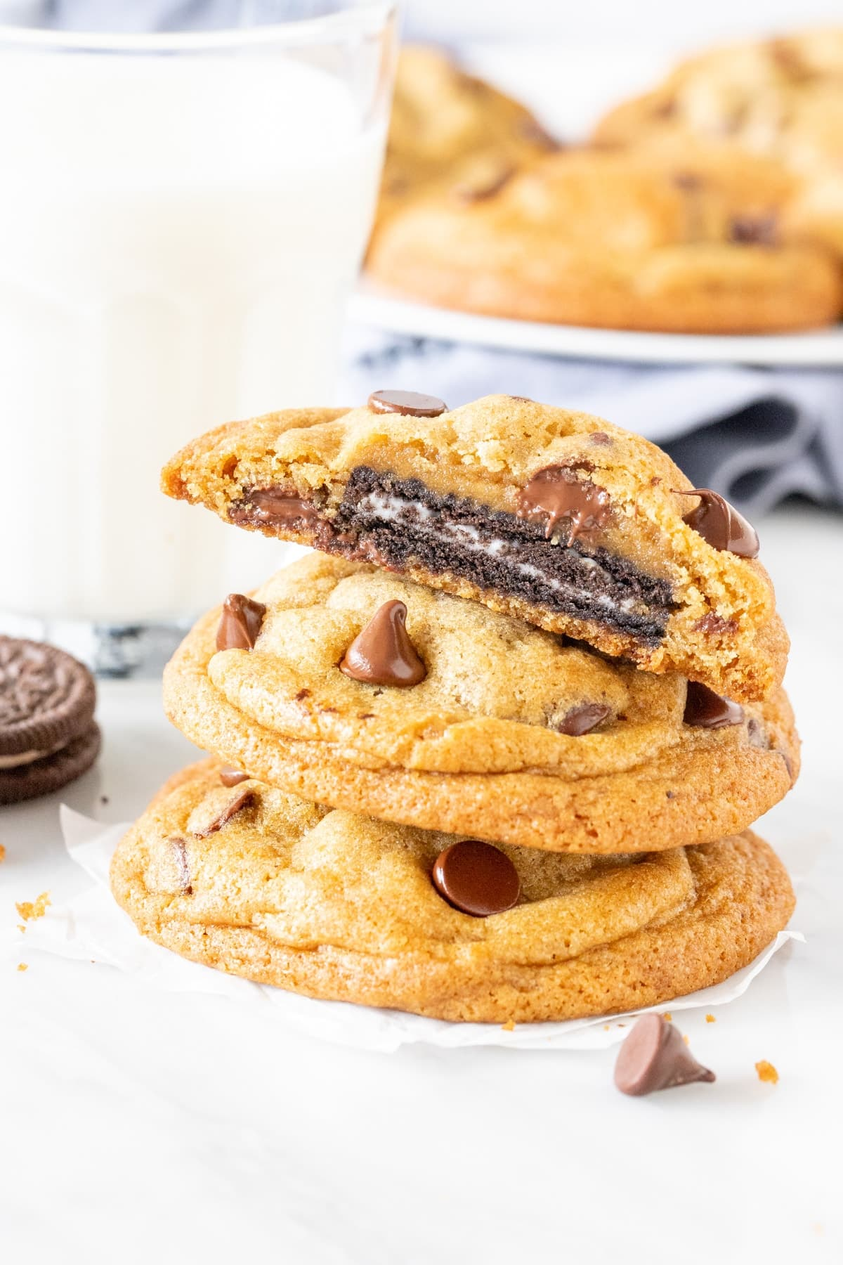 Stack or Oreo Stuffed Cookies